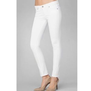 Paige White Skinny Ankle Crop size 27